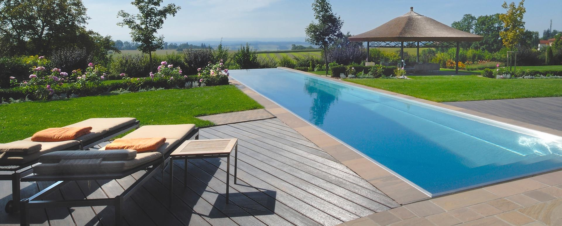 der alte pool oder teich wird zum exklusiven edelstahlpool